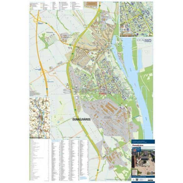 Dunaújváros faléces várostérképe