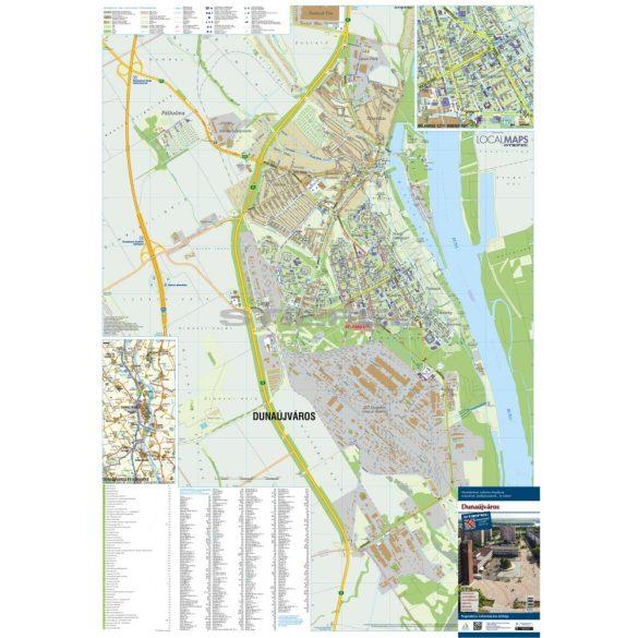 Dunaújváros fémléces várostérképe