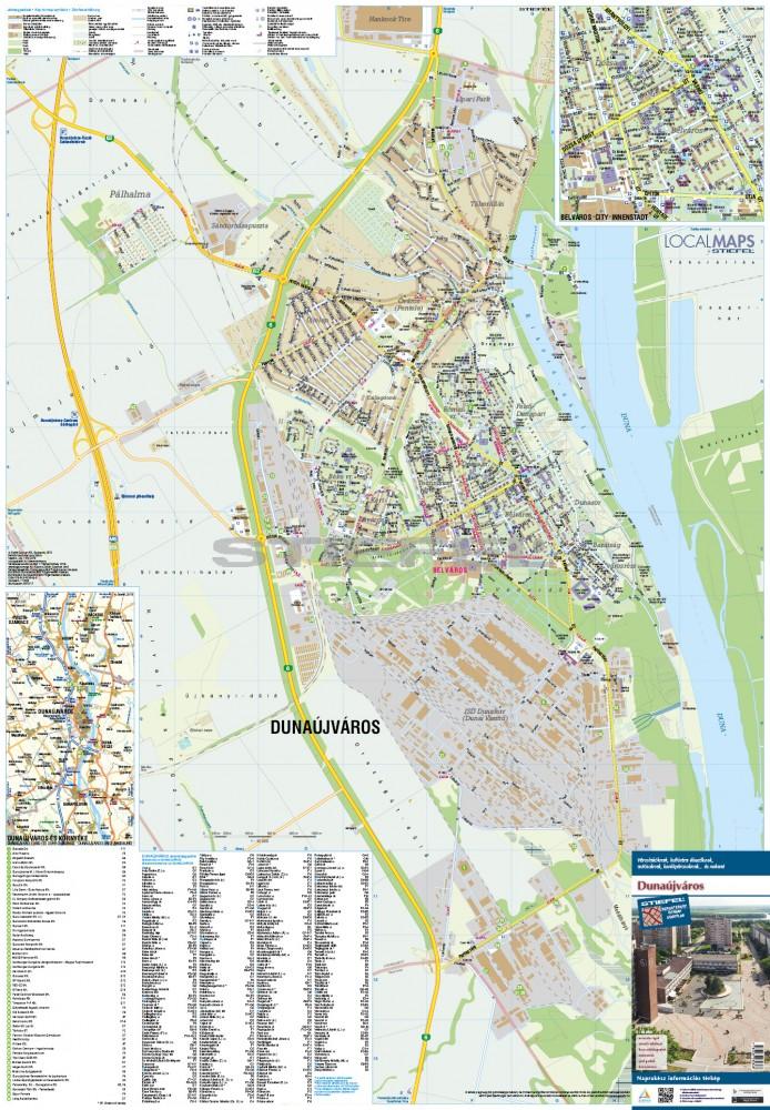 dunaújváros térkép Dunaújváros térkép hajtogatott