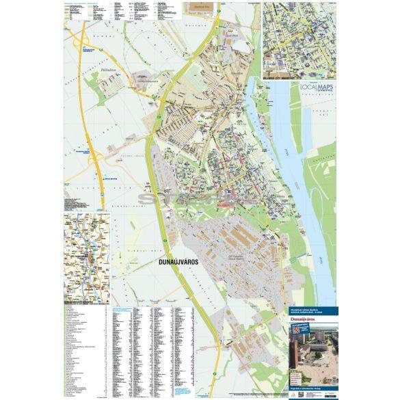 Dunaújváros hajtogatott várostérképe