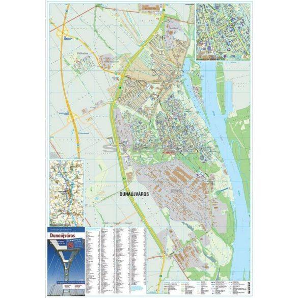 Dunaújváros tűzhető, keretezett várostérképe
