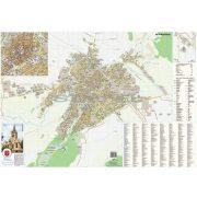 Nagyszeben város (Románia) térképe, tűzhető, keretes