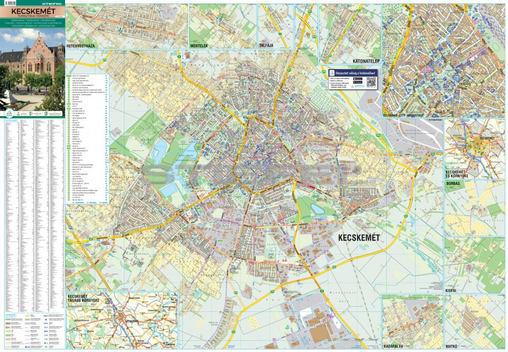 térkép kecskemét Kecskemét keretezett térkép, tûzhető
