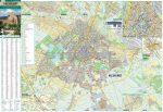 Kecskemét keretezett térkép, tűzhető