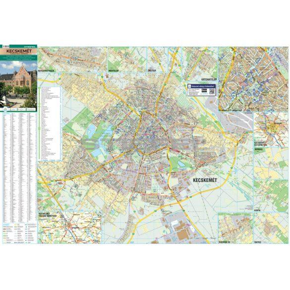 Kecskemét tűzhető, keretezett várostérképe