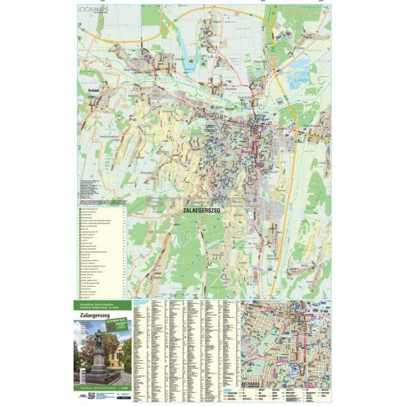 Zalaegerszeg faléces várostérképe