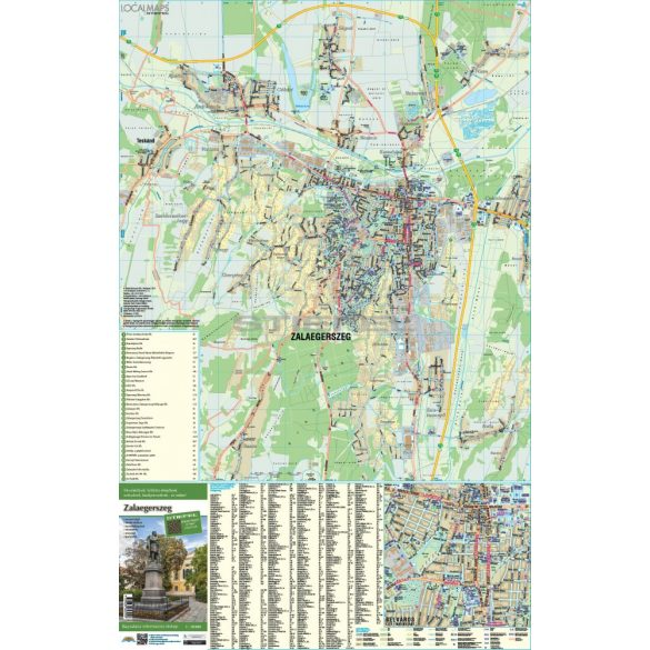 Zalaegerszeg tűzhető, keretezett várostérképe