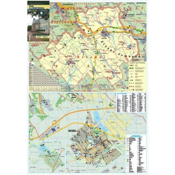 Bicske és a Bicskei kistérség térkép, keretezett