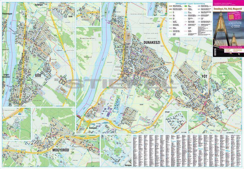 fót térkép Dunakeszi, Göd, Fót, Mogyoród térkép,fémléces