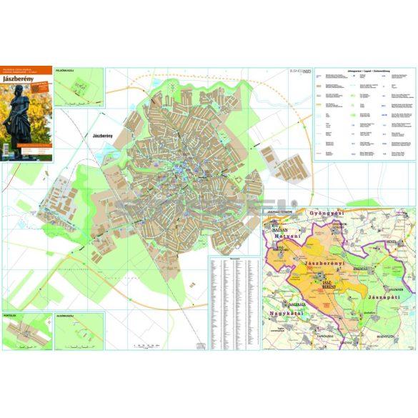 Jászberény várostérkép (hajtogatott, puhaborítós)