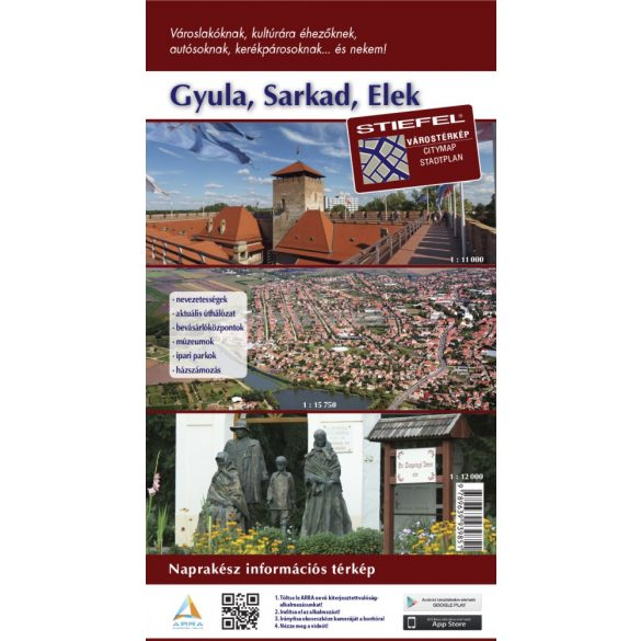 Gyula-Sarkad-Elek hajtogatott térképe