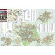 Gyula-Sarkad-Elek tűzhető, keretezett térképe