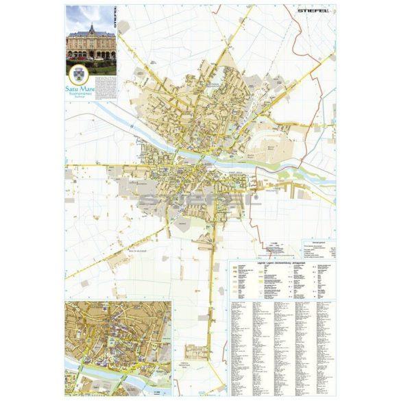 Szatmárnémeti város (Románia) térképe, tűzhető, keretes