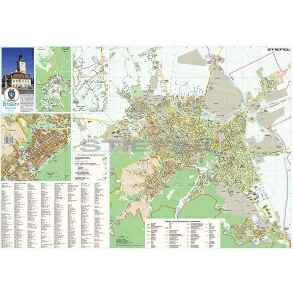Brassó város (Románia) hajtogatott térképe