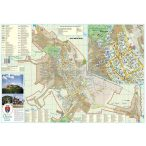 Déva város (Románia) térképe, tűzhető, keretes
