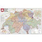 Svájc irányítószámos térképe (fóliás-fémléces)