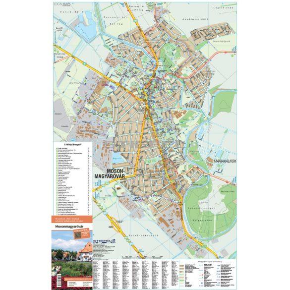 Mosonmagyaróvár fémléces várostérképe