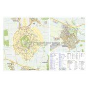 Devecser város és Somló térképe, tűzhető, keretes