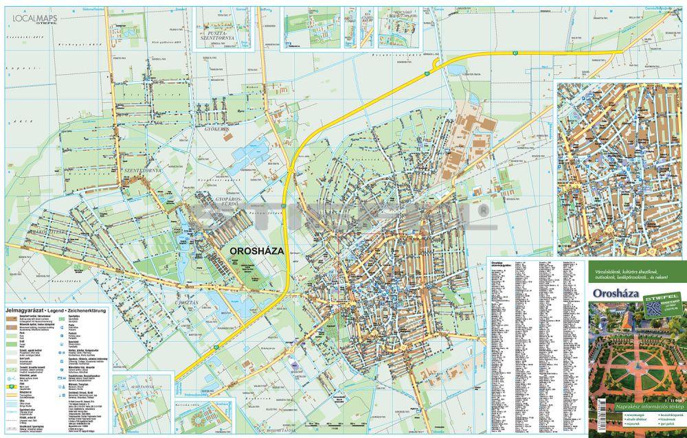 orosháza térkép Orosháza várostérkép hajtott
