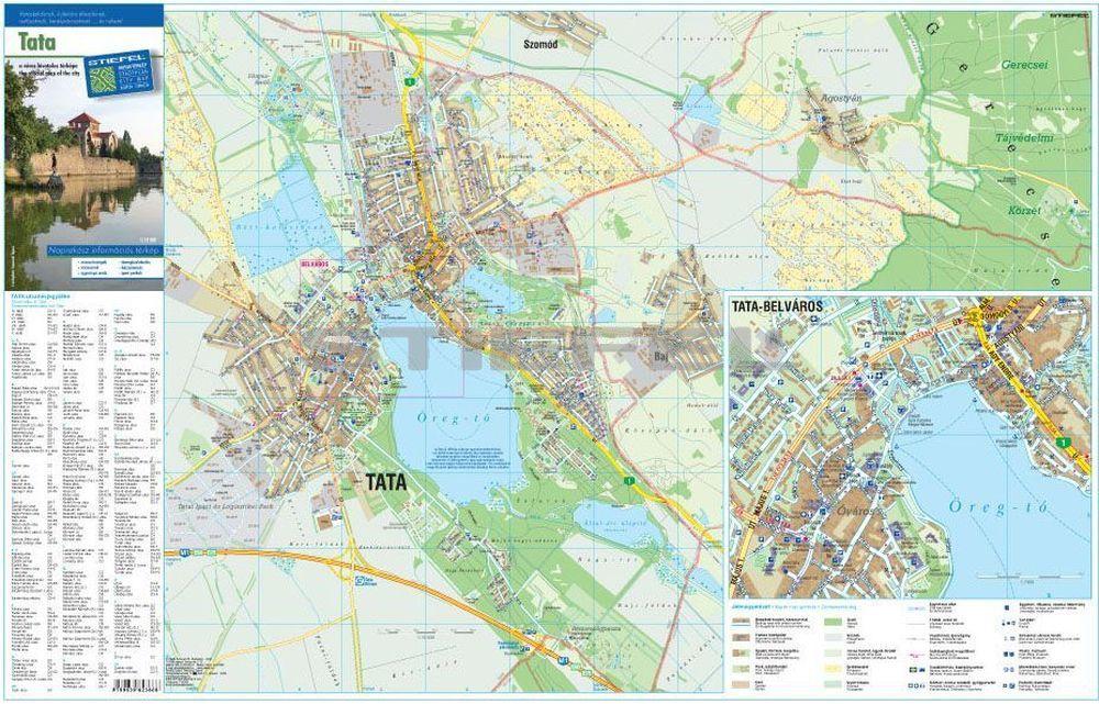 tata térkép Tata város térképe hajtott tata térkép