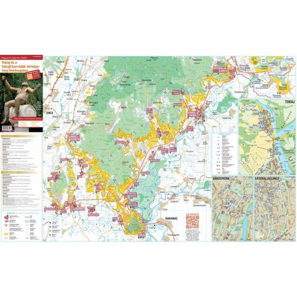 Tokaj és a Tokaji borvidék térképe hajtott
