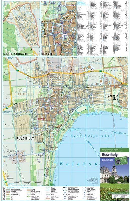 keszthely térkép Keszthely térkép tûzhető, keretezett térkép