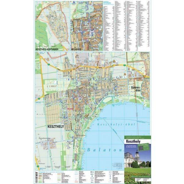 Keszthely térkép tűzhető, keretezett térkép