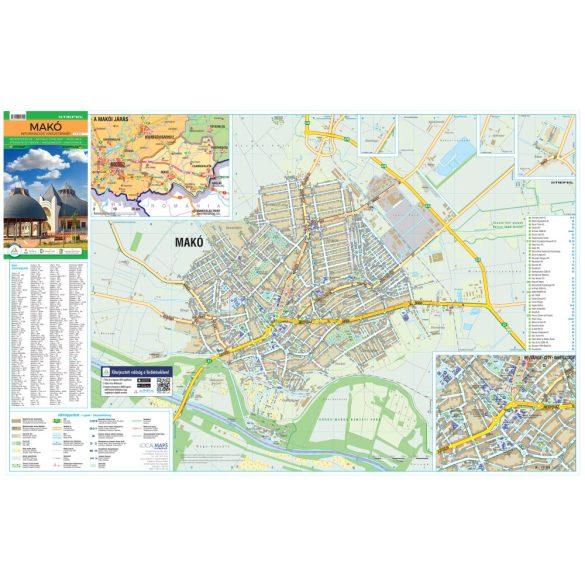 Makó hajtogatott várostérképe