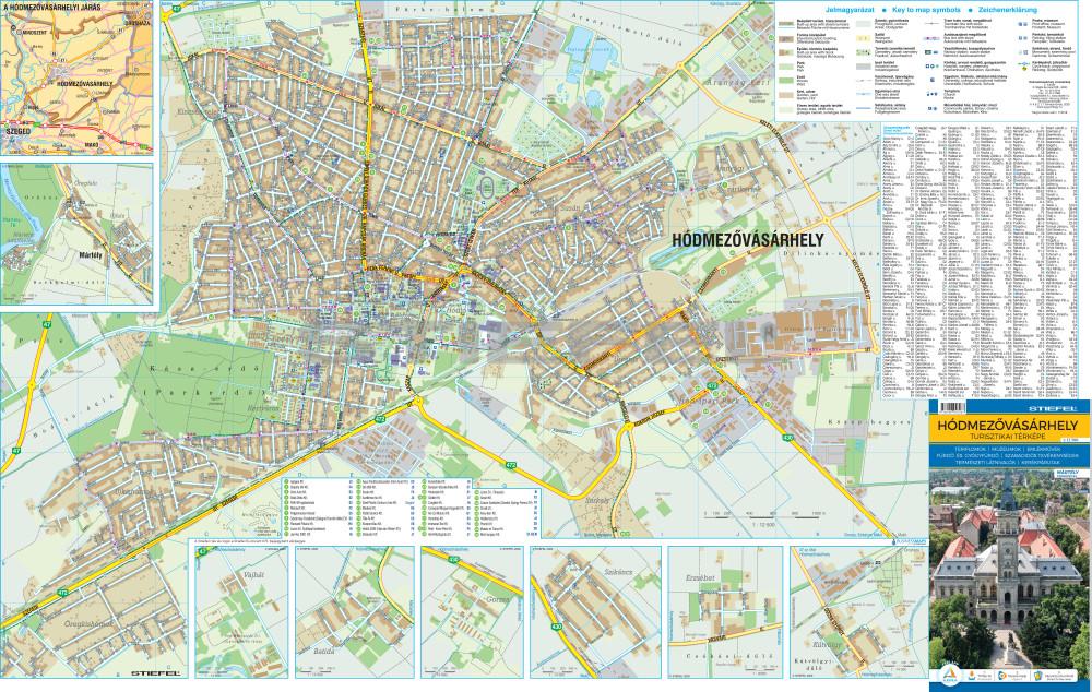 hódmezővásárhely térkép Hódmezővásárhely térkép fémléces