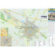 Cegléd tűzhető, keretezett várostérképe