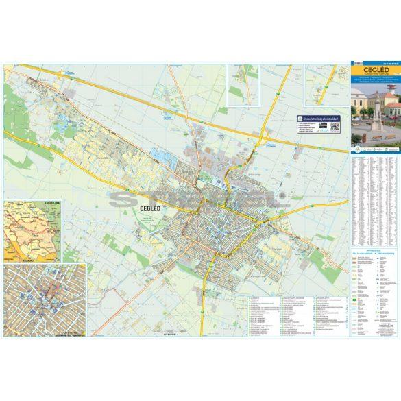 Cegléd térkép, keretezett