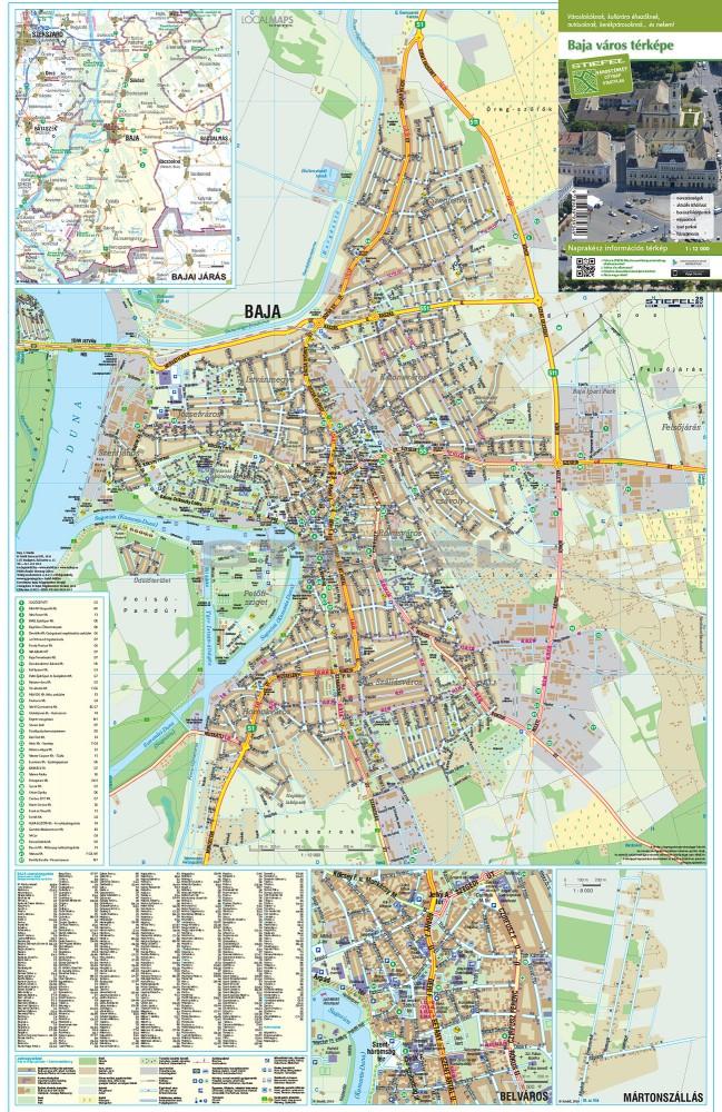 baja részletes térkép Baja térkép,hajtogatott baja részletes térkép