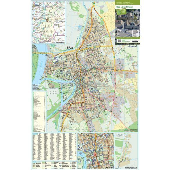 Baja hajtogatott várostérképe