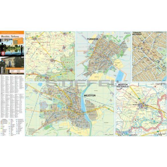 Mezőtúr és Túrkeve hajtogatott várostérképe