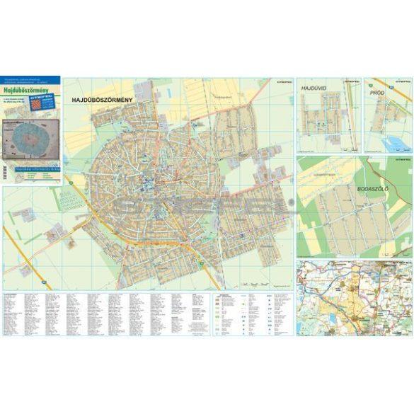 Hajdúböszörmény fémléces várostérképe