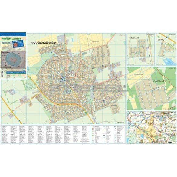 Hajdúböszörmény hajtogatott várostérképe