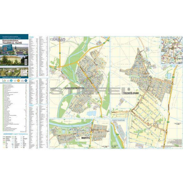 Kunszentmárton-Tiszaföldvár-Martfű hajtogatott várostérképe