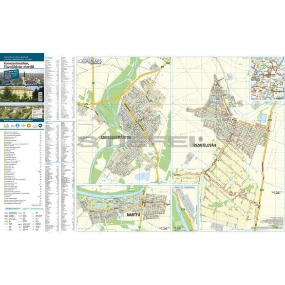 Kunszentmárton-Tiszaföldvár hajtogatott térkép