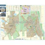 Békés-Mezőberény térkép, fémlécezett