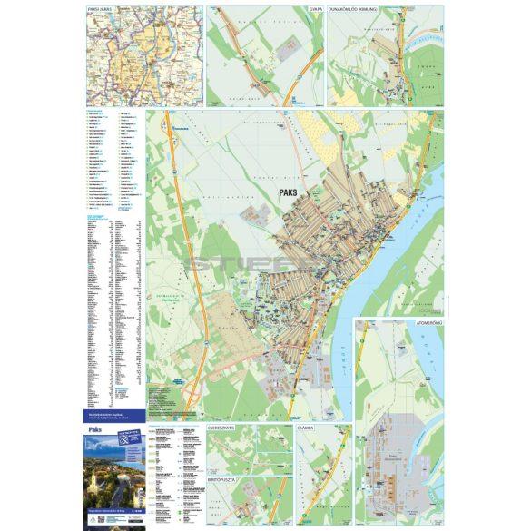 Paks tűzhető, keretezett várostérképe