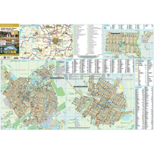 Balmazújváros-Hajdúszoboszló-Nagyhegyes faléces térképe