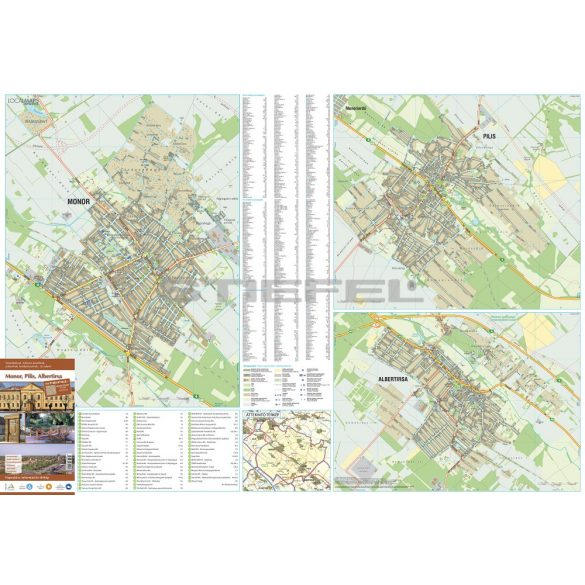 Monor-Pilis-Albertirsa faléces térképe
