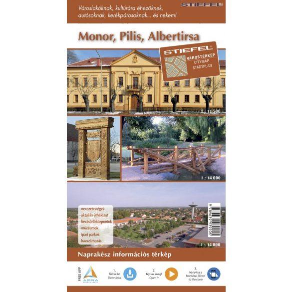 Monor-Pilis-Albertirsa hajtogatott térképe