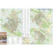Monor-Pilis-Albertirsa tűzhető, keretezett térképe
