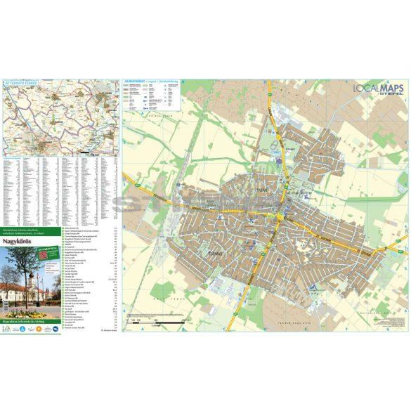 Nagykőrös hajtogatott várostérképe