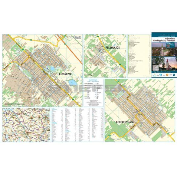 Lajosmizse-Kerekegyháza-Felsőlajos fémléces térképe