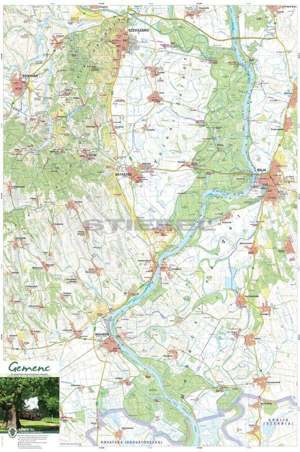 gemenc térkép Gemenc és környéke térkép gemenc térkép