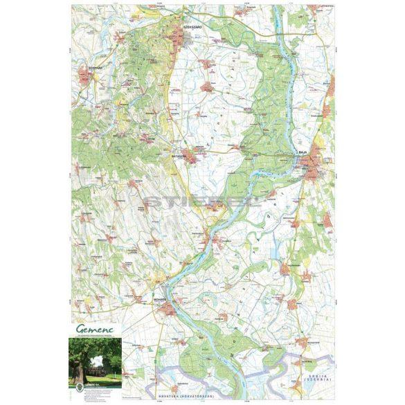 Gemenc és környéke térkép
