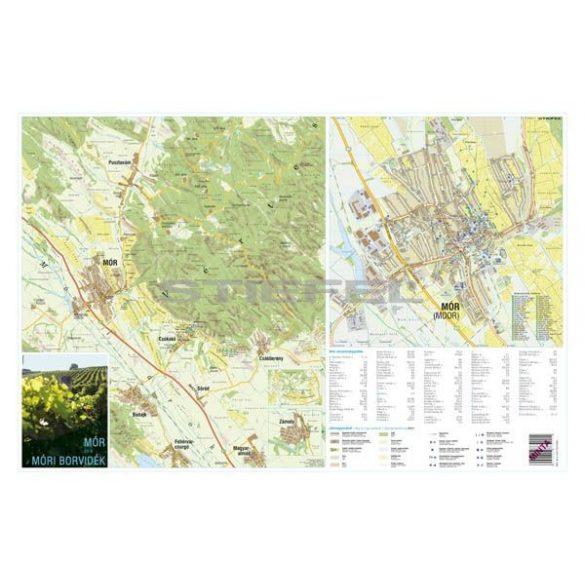 A móri borvidék és Mór város térképe, tűzhető, keretes