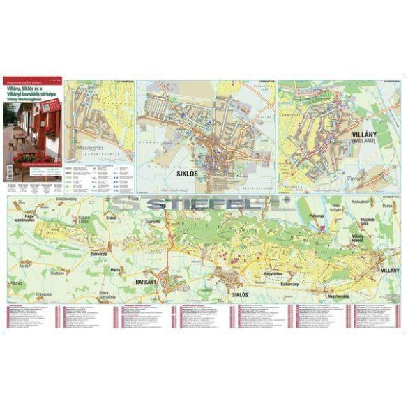 Villány, Siklós és a Villányi borvidék térképe hajtogatott